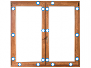 Kunststofffenster-Beschlag Widerstandsklasse 2
