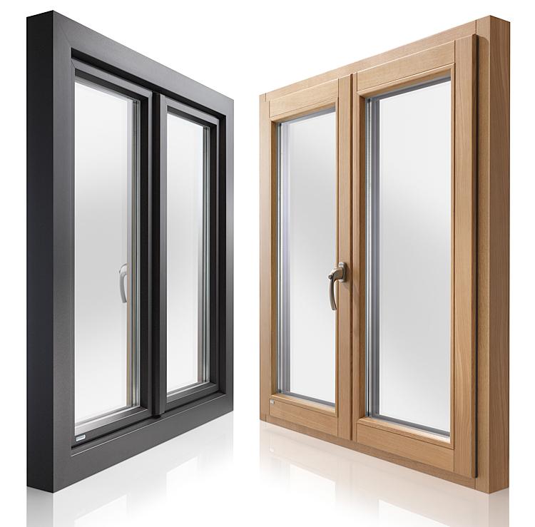 Holz-Alu-Fenster-Innen und Außen