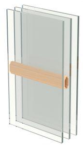 Holzfenster-Zwischenscheibensprosse